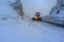 بارش برف جاده پاوه به مریوان را مسدود کرد