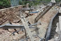 برق 25 روستای گلستان بر اثر وقوع سیل قطع است