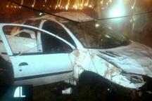 واژگونی خودروی 206 در قزوین با یک کشته