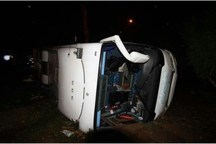 واژگونی اتوبوس در قم یک کشته و 46 مصدوم برجا گذاشت