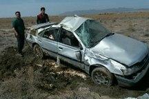واژگونی خودرو در شرق سبزوار 6 مصدوم برجای گذاشت