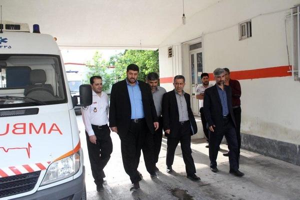 بازدید رئیس مرکز حوادث و فوریت های پزشکی کشورازپایگاه اورژانس 115 خلیل شهر