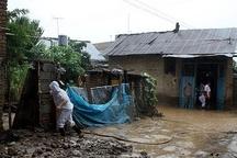آبگرفتگی منازل مسکونی بر اثر بارشهای رگباری در چهاردانگه و سوادکوه