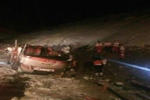 آخرین وضعیت مسافرین اتوبوس واژگون شده شهرستان خوی