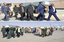 پیکر مطهر سه شهید مدافع حرم وارد فرودگاه اصفهان شد