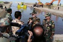 لایروب تخصصی ارتش در مناطق سیل زده گلستان راه اندازی شد