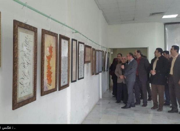 نمایشگاه مشترک خوشنویسی و نقاشی در کنگاور برپا شد