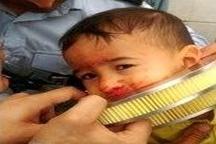گیر کردن سر کودک خردسال در داخل حلقه فیلتر هوا