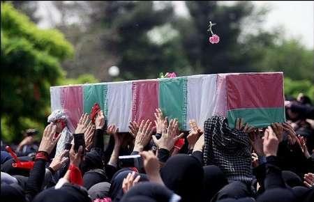پیکر پاک شهید مدافع حرم حیدر جلیل وند در فردیس تشییع میشود
