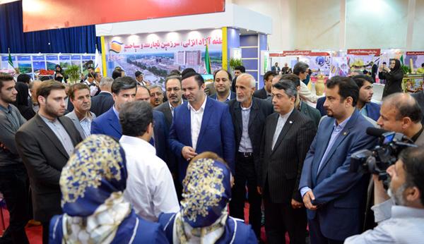 افتتاح نمایشگاه  فرصت های سرمایه گذاری در منطقه آزاد انزلی
