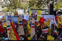 مراسم راه پیمایی 13 آبان برگزار شد