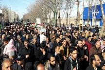 پیکر مطهر سه شهید دفاع مقدس در اصفهان تشییع شد