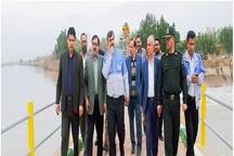 بازدید مسئولان استان خوزستان از رودخانه کرخه ونقاط حادثه خیز شهرستان حمیدیه