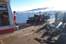 حادثه رانندگی در خلخال یک کشته و2مصدوم برجای گذاشت