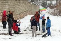 برف مدارس برخی مناطق خراسان شمالی را به تعطیلی کشاند