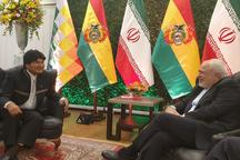 دیدار ظریف با رئیس جمهور بولیوی