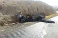 راننده وانت سایپا در جاده کمربندی گچساران در آتش سوخت