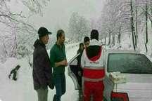 نجات 17 نفر گرفتار برف در بابل