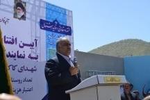افتتاح پروژه آبرسانی به ۱۳روستای شهرستان دلفان