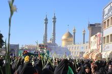 استقبال مردم قم از کاروان نمادین ورود حضرت معصومه (س)