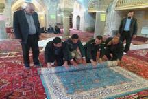 اهدای یکصد تخته فرش به حرم حضرت ابوالفضل از سوی خیر هشترودی
