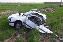 خودرو پژو پارس در برخورد با کامیون دو نیم شد