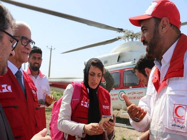 رییس دفتر منطقه ای «منا» از مناطق سیل زده خوزستان دیدن کرد
