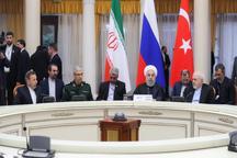 رئیسجمهور روحانی: تروریستها نه تنها در سوریه بلکه در هیچ جای این کره خاکی، نباید احساس امنیت کنند/ حضور نیروهای خارجی از جمله آمریکاییها باید هر چه سریعتر خاتمه یابد