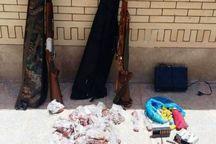 شکارچیان غیر مجاز در اردستان و قمیشلو دستگیر شدند
