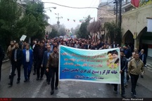برگزاری راهپیمایی باشکوه ٢٢ بهمن در دزفول با حضور گسترده اقشار جامعه کارگری