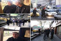 عکس/ استفاده حناچی از دوچرخه، مترو و اتوبوس