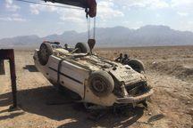 واژگونی خودرو در مهریز، سه زخمی بر جا گذاشت