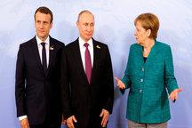 تاکید پوتین، مکرون و مرکل بر حفظ برجام