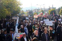 مردم آزادشهر در حمایت از امنیت کشور راهپیمایی کردند