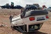 واژگونی خودروی سواری در جاده داران پنج مصدوم داشت