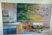 توزیع 150سبد غذایی بین مادران باردار در دیر بوشهر