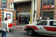 مهار آتش در بازار چرم تبریز