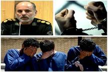 دستگیری سه سارق حرفه ای محتویات داخل خودرو در اهواز