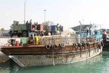 350 تن مواد غذایی از بندر دیر بوشهر به قطر ارسال شد
