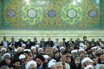 آیین جشن میلاد پیامبر(ص) در دفتر رهبری در قم برگزار شد
