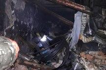 آتش سوزی در کارگاه اتورنگ خودرو در تبریز