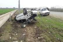 واژگونی خودرو در محور بجنورد- شیروان یک کشته و 3 زخمی داشت