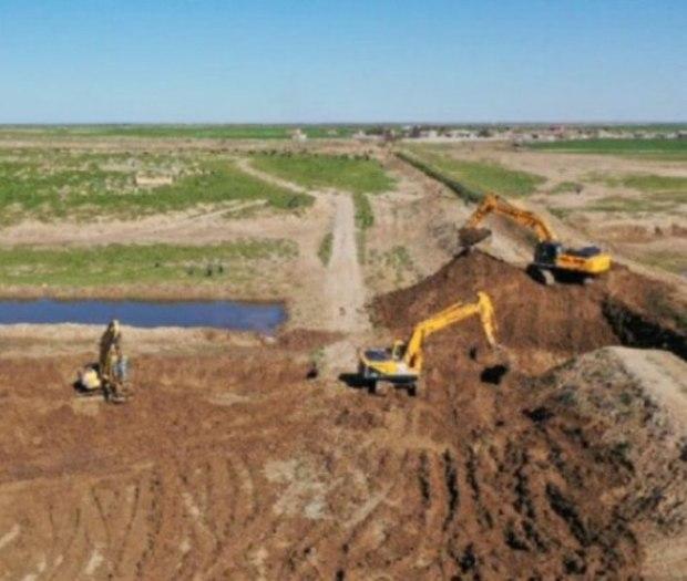 کانال 4 کیلومتری برای جلوگیری از ورود آب به گمیشان ساخته شد
