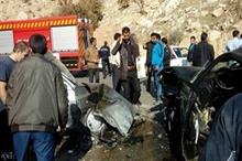 ۶کشته ومجروح در تصادف دوخودروسواری در جاده پلدختر - کرمانشاه