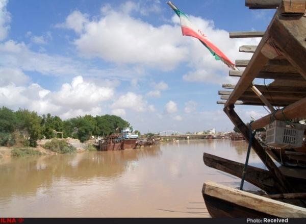 بازگشت شکوه گذشته رودخانه زهره هندیجان در پی بارشهای اخیر+تصاویر