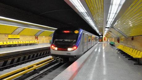 برخورد قطار با یک زن در مترو ارم سبز