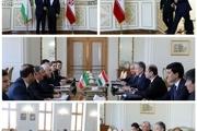 دیدار وزیر امور خارجه تاجیکستان با محمدجواد ظریف