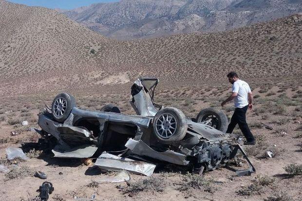 واژگونی  خودرو در محور دامغان- فولادمحله 2 کشته داشت