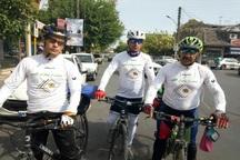 دوچرخه سواران حامی بیماران کلیوی از اردبیل به آستارا رسیدند