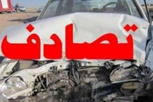 تصادف در مسیر خاش - ایرانشهر 9 مجروح برجای گذاشت